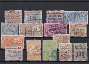 German Mixed Revenue + Official Stamps Ref 27716