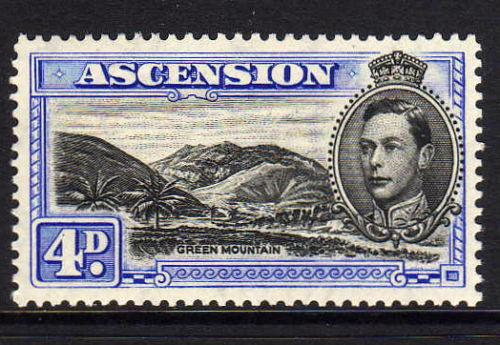 ASCENSION 1938-53 4d BLACK & ULTRAMARINE PERF.13½ SG 42c lmm
