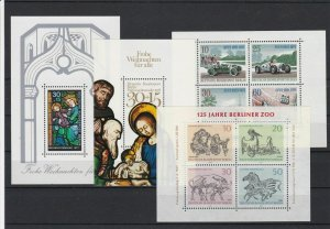 Germany Berlin Mint Never Hinged Stamps Sheets Ref 25366