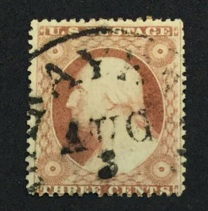 MOMEN: US STAMPS #26 USED LOT #44111