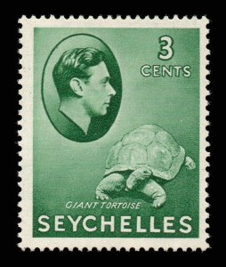 Seychelles 1938 KGVI 3c green SG 136 mint