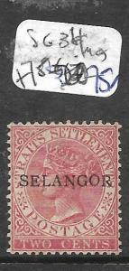MALAYA SELANGOR (P0612B) QV 2C  SG 34  MOG
