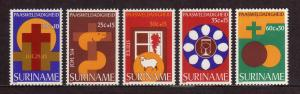 SURINAM/SURINAME 1978 MNH SC.B246/B250 Easter Charities