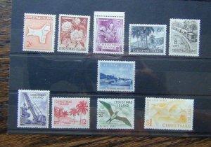 Christmas Island 1963 set to S1 Yellow SG11 - SG20 MNH