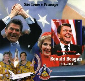 Sao Tome & Principe 2004 SPACE-Ronald Reagan s/s Imperforated Mint (NH)
