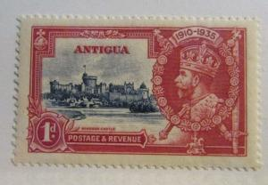 ANTIGUA  Scott #77 ** MNH , Castle & King 1d  , fine + 102 card