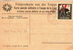 SWITZERLAND Card Military FELDPOST c1916{samwells-covers} SP7