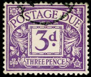 SGD14, 3d dull violet, FINE USED. WMK BC