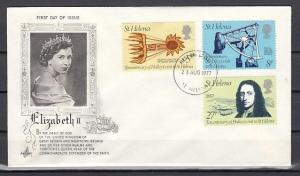 St. Helena, Scott cat. 314-316. Halley`s Comet issue. First day cover.