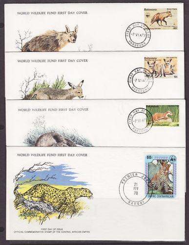 Worldwide Collection - 1976-1978 WWF Official FDC-s, 55 different