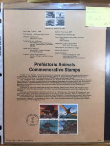 US #SP861 / #2425a Prehistoric Animals Commemorative Stamps