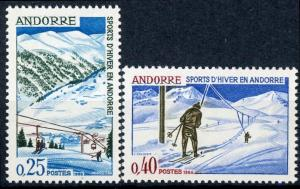 Andorra - French Admin. #169-170 Winter Sports MNH