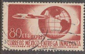 MEXICO E17, 80¢ 1950 Definitive 2nd Printing wmk 300.USED. F-VF. (1475)