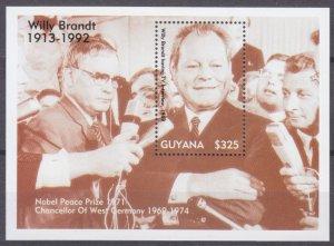 1993 Guyana 4227/B287 Nobel laureates / Willy Brandt 6,50 €