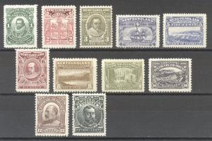 NEWFOUNDLAND #87-97 Mint - 1910 Guy Issue