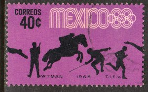 MEXICO 991, 40c Pentathlon 4th Pre-Olympic Set Used. F-VF. (743)