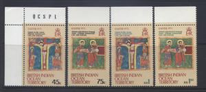 B.I.O.T. -Scott -50-53 - Easter -1973- MNH- Set of 4 Stamps