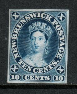 New Brunswick #9DP Very Fine Die Proof In Blue **With Certificate**