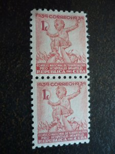 Stamps - Cuba - Scott# RA2 - Mint Hinged Pair of Stamps