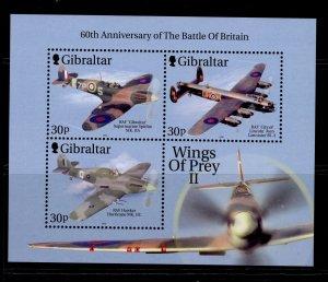 GIBRALTAR QEII SG MS954a, 2000 wings of prey II mini sheet, NH MINT.
