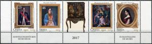 Serbia. 2017. Jevrem Grujić Museum. T2 (MNH OG) Block of 4 stamps and 1 label