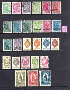 LIECHTENSTEIN 1-2 ($35) AND MORE STOCK PAGE COLLECTION LOT SOME NH U/M 26 STAMPS