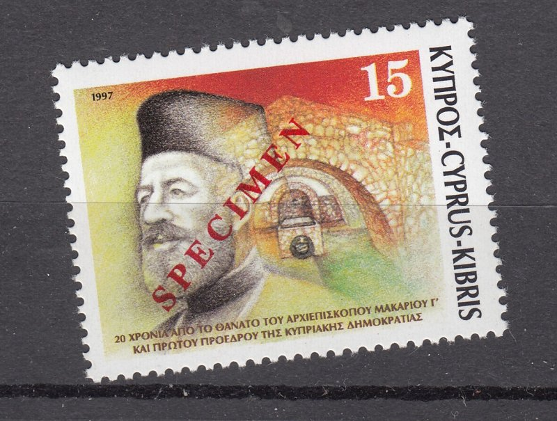 J28415 1997 cyprus set of 1 mnh specimen #909 archbishop