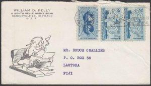 USA 1955 cover with nice franking to LAUTOKA, FIJI.........................M112