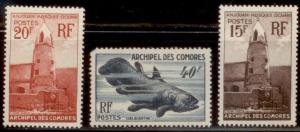 Comoro 1952 SC# 40-42 MOG-NH CH