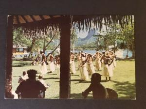 1972 Tahiti Rancho Santa Fe California Tahitians Dancing on Lawn RPPC Cover