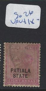 INDIA  PATIALA    (P2807B)   QV  8 A  SG  26  FU