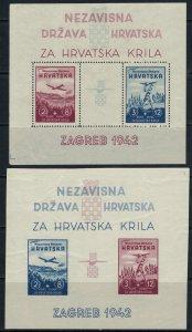 Croatia #B11-2*  CV $100.00  Souvenir sheets