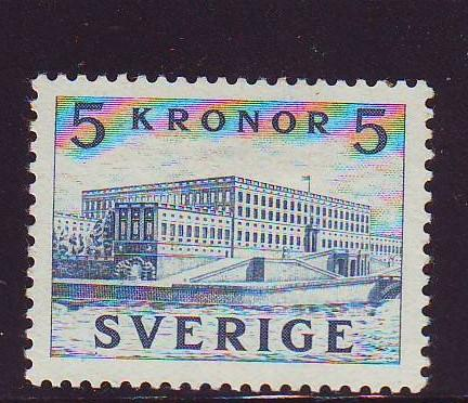 Sweden Sc322a 1941 5 kr Palace stamp perf on 4 sides mint