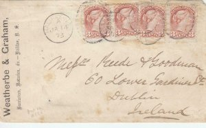 1873, Halifax, Nova Scotia, Canada to Dublin, Ireland , See Remark (33441)