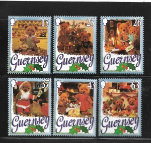 GUERNSEY, 609-614,  MNH, CHRISTMAS TEDDY BEARS
