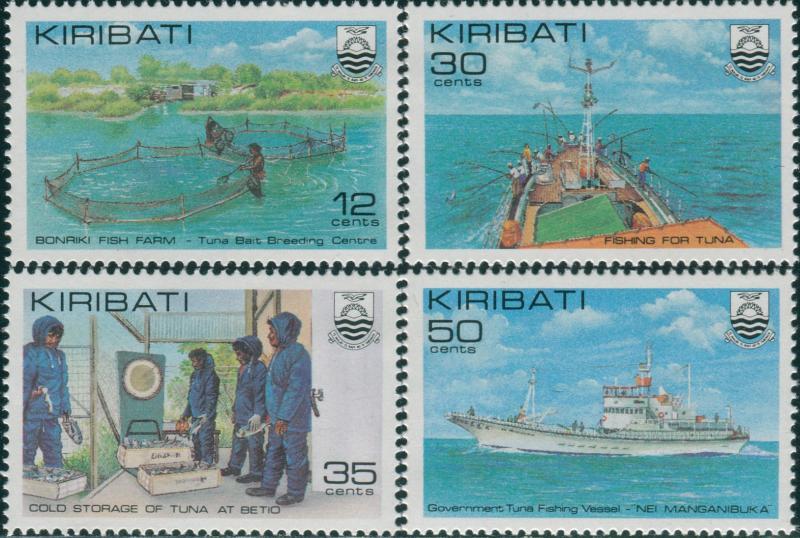 Kiribati 1981 SG158-161 Tuna Fishing set MNH