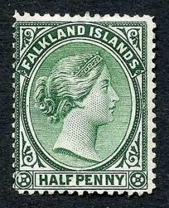 Falkland Is SG15 1/2d Blue green Mint no gum Cat 28 pounds