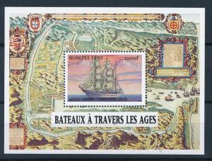 [81299] Burkina Faso 1999 Ships Sail boat Sheet MNH