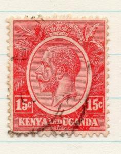 Kenya Uganda 1922 GV Early Issue Fine Used 15c. 198425