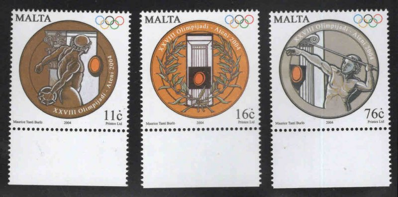 MALTA  Scott 1173-1175 MNH** Summer Olympic set