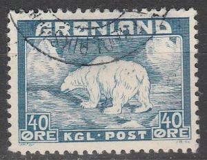 Greenland #8 F-VF Used CV $11.50  (S343)