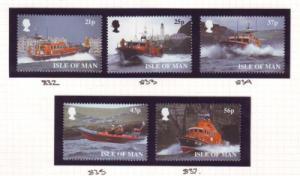 Isle of Man Sc 816-20 1999 Lifeboats stamp set  NH