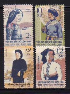 North Vietnam 112-115 Set MNH Ethnic Costumes (C)