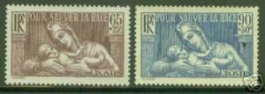 FRANCE Scott B64-5 MH* CV6.25$, FRANCE AND INFANT