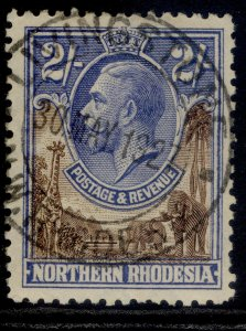 NORTHERN RHODESIA GV SG11, 2s brown & ultramarine, FINE USED. Cat £48. CDS