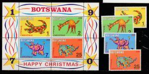 Botswana  1970  Scott No. 67-70a  (N**)  Complet