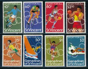 St-Vincent - Moscow Olympic Games MNH 2X Sports Set (1980)