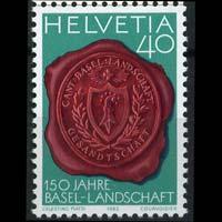 SWITZERLAND 1983 - Scott# 739 Basel Seal Set of 1 NH