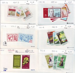Z527 Jlstamps germany ddr mh/mnh 16 all dif sets, appears to be 1995-9 scv