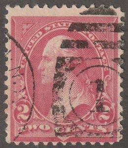 USA stamp, Scott#267B,  used,  vermilion color, type c triangles,  #267B